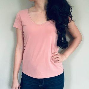 H&M Coral Pink Orange Summer Tshirt Top